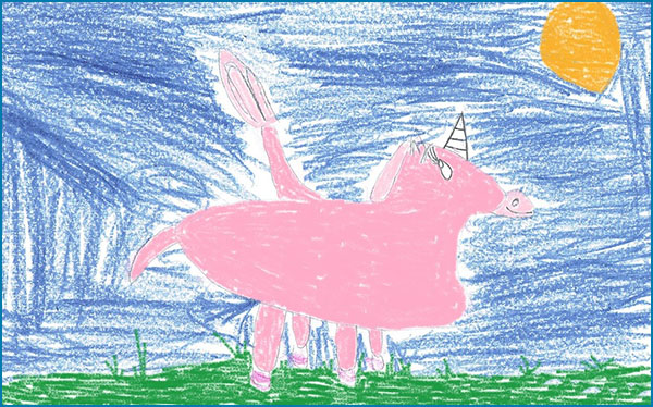 Magical animal drawing.